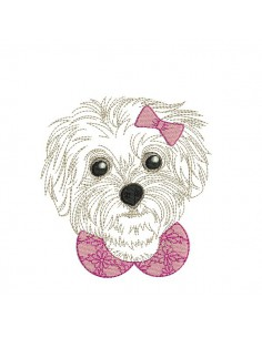 Instant download machine embroidery  Dog Staff