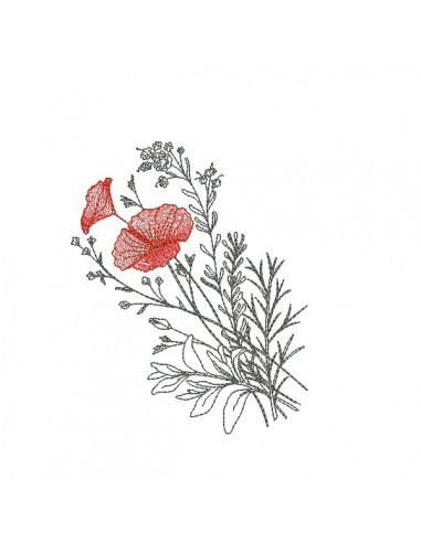 Dessin Broderie motif de broderie fleurs