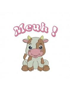 Motif de broderie machine bébé vache