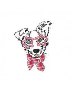 Motif de broderie machine border collie