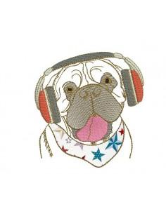 Instant download machine embroidery English bulldog
