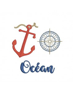 Instant download machine embroidery design Marine oars