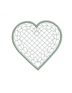 Instant download machine embroidery  heart