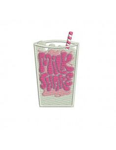 Instant download machine embroidery milk shake