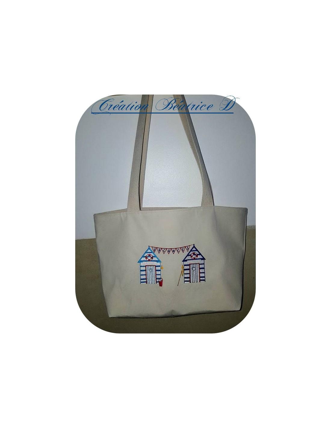 Beach Hut Machine Embroidery Design: Instant Download Machine Embroidery Design Beach Huts