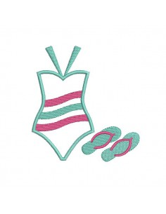 Instant download machine embroidery design swimsuit