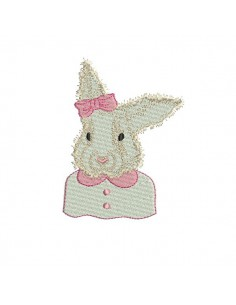 Instant download machine embroidery Crowned rabbit