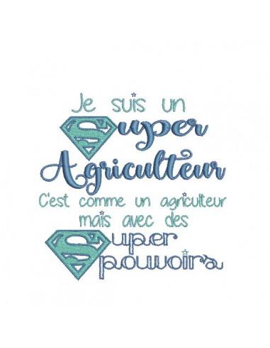 Motif de broderie super agriculteur
