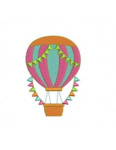 Motif de broderie machine  montgolfière