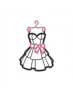 embroidery design black dress