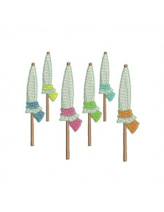 Motif de broderie  machine parasols de plage