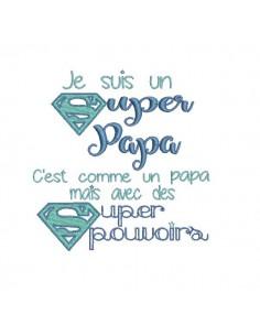 Motif de broderie super papa