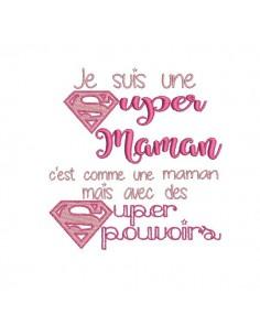 Motif de broderie super maman
