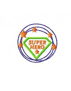 Motif de broderie machine Logo super héro