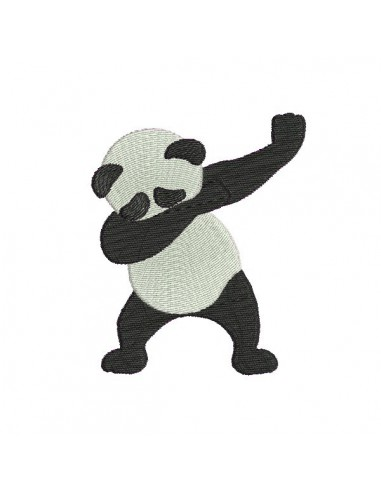 Motif de broderie machine  dab panda