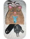 Motif de broderie machine porte clé  chat  ITH