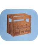 Motif de broderie machine  caisse de vin