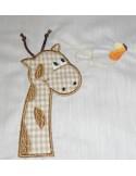 Motif de broderie girafe