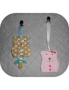 machine embroidery design  cat  key holder  ITH