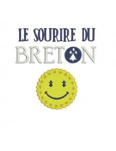 Instant download machine embroidery  Breton waxed rain