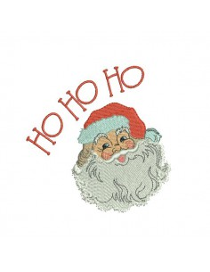 Instant download machine embroidery design Santa Claus Ho Ho Ho