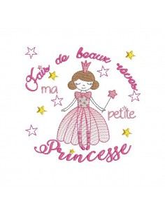 Embroidery design frame  once upon a time