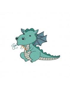 Motif de broderie machine dragon du chevalier