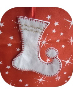 Instant download machine embroidery design christmas house