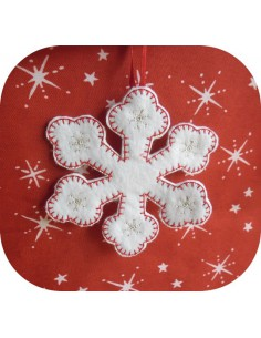 Motif de broderie machine flocon de neige  ITH