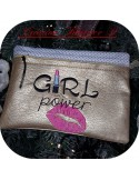 Motif de broderie machine girl power