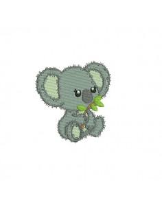 Embroidery design baby dinosaur
