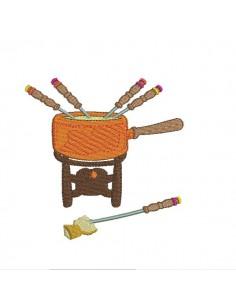 Motif de broderie machine fondue