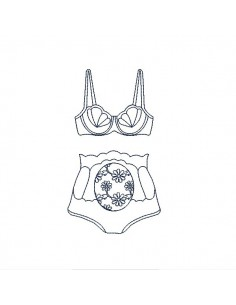 Instant download machine embroidery design shell lingerie