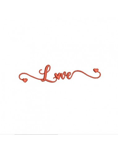 Motif de broderie machine love
