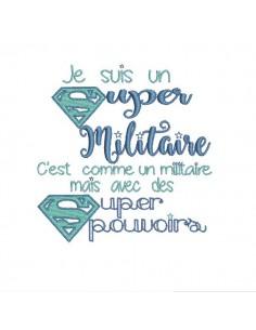 Motif de broderie super militaire