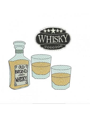 Motif de broderie machine whisky
