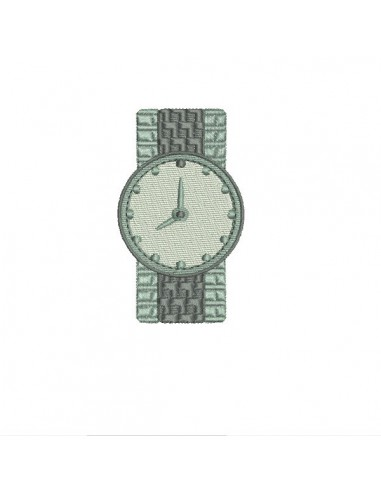 Motif de broderie machine  montre