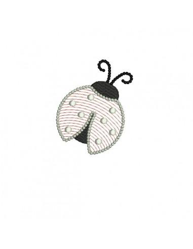 Motif de broderie machine coccinelle mylar