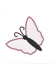Motif de broderie machine papillon Mylar