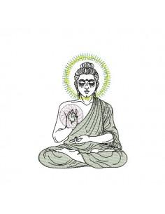 Motif de broderie bouddha oracle