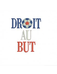 Motif de broderie machine  foot droit au but