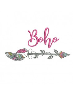 Embroidery design arrow dream catcher redwork