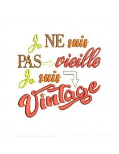 Embroidery design vintage