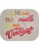 Motif de broderie Vintage femme