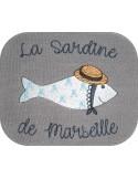 Motif de broderie machine sardine de Marseille