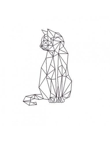 Motif de broderie machine chat origami
