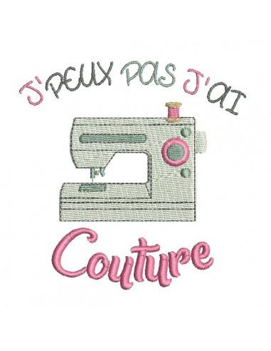 Motif de broderie machine couture