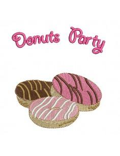 Instant download machine embroidery design cake paris brest