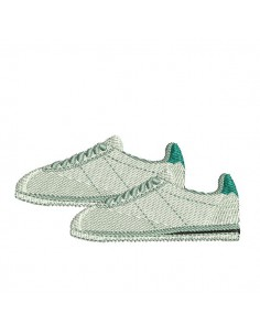 Instant download machine embroidery  sneakers