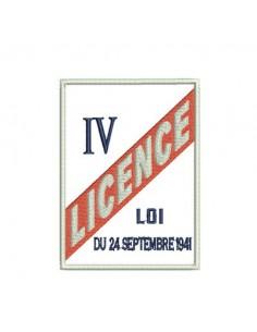 motif de broderie Licence IV